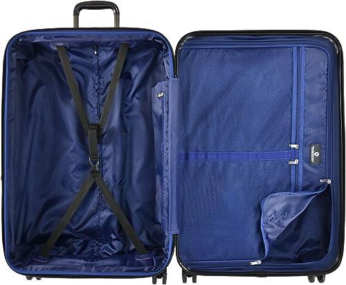 Traveler s Choice La Serena Polycarbonate Hardside Expandable Spinner Luggage, Gray, 3-Piece Set
