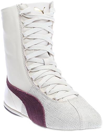 PUMA Women's Eskiva High Remaster Birch/Winetasting Sneaker 5.5 B ...