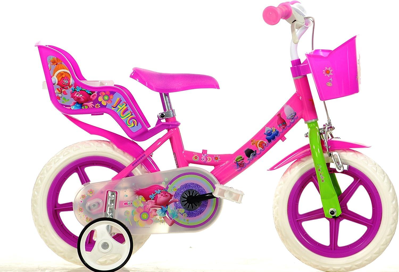 Bicicleta Chica 12 Pulgadas Dino Trolls Ruedas Extraíbles Cesta y ...