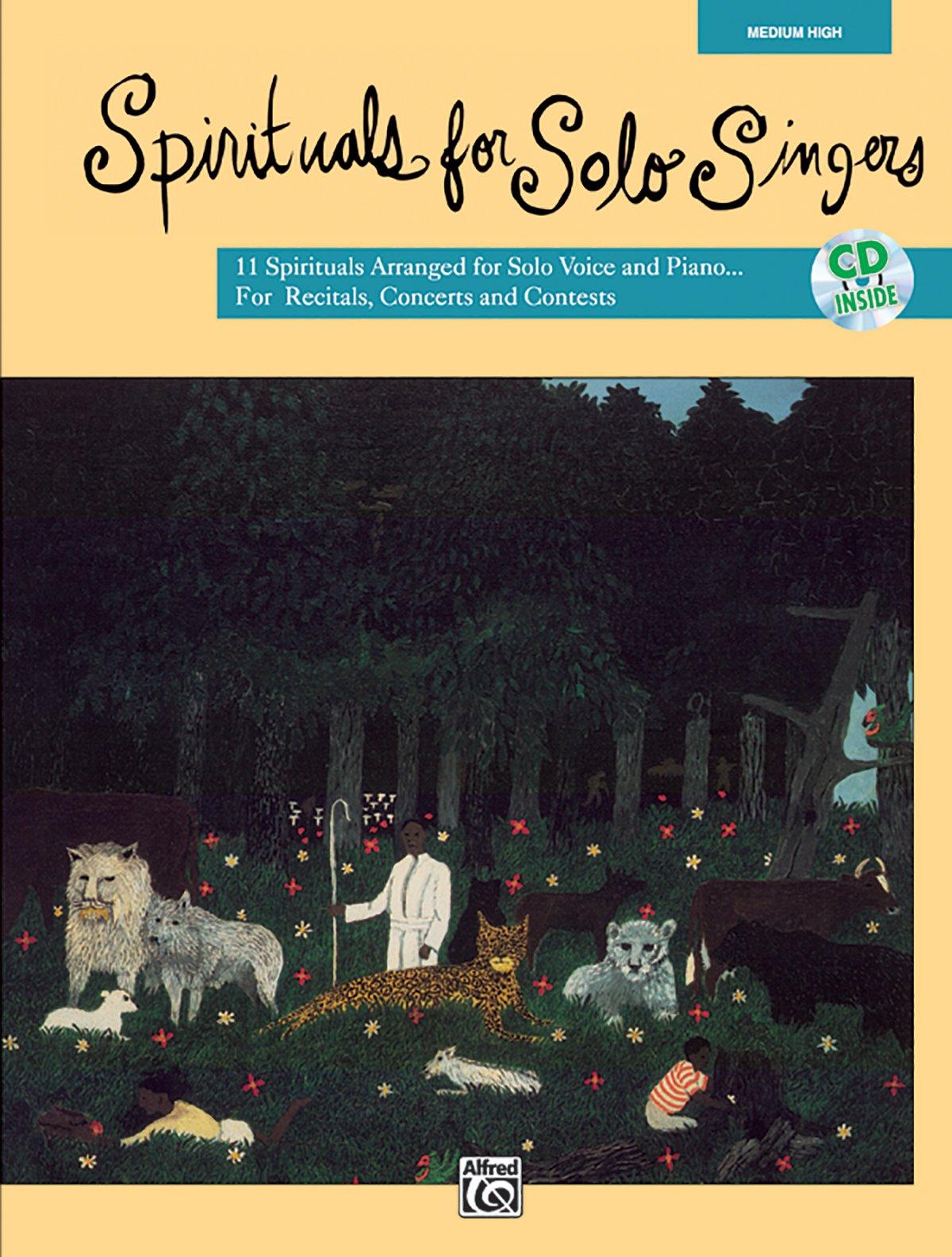 Spirituals for Solo Singers: Medium High Voice, Book & CD