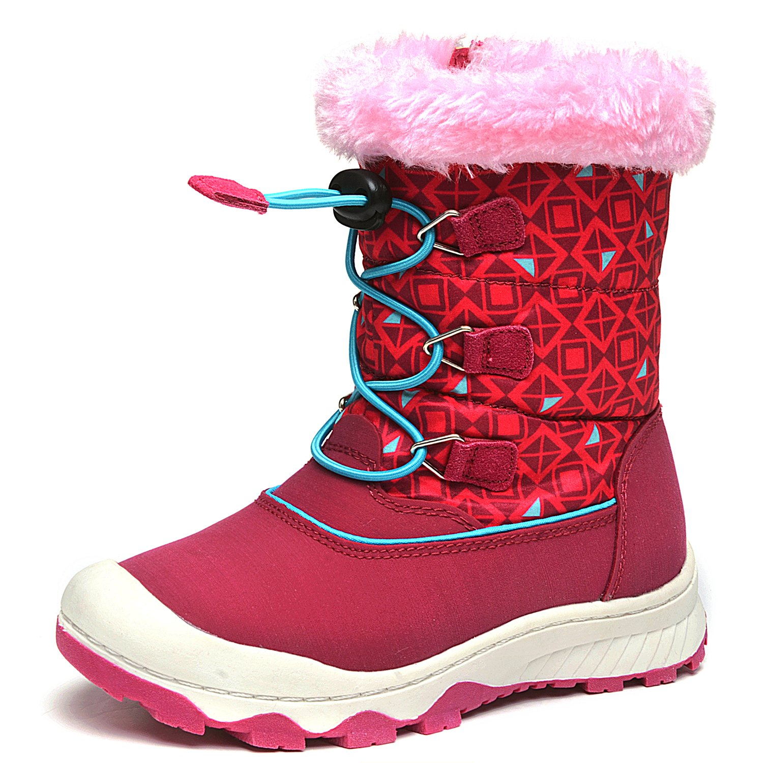 UBELLA Children Boy's Girl's High-top Winter Warm Fur Zipper Snow Boots