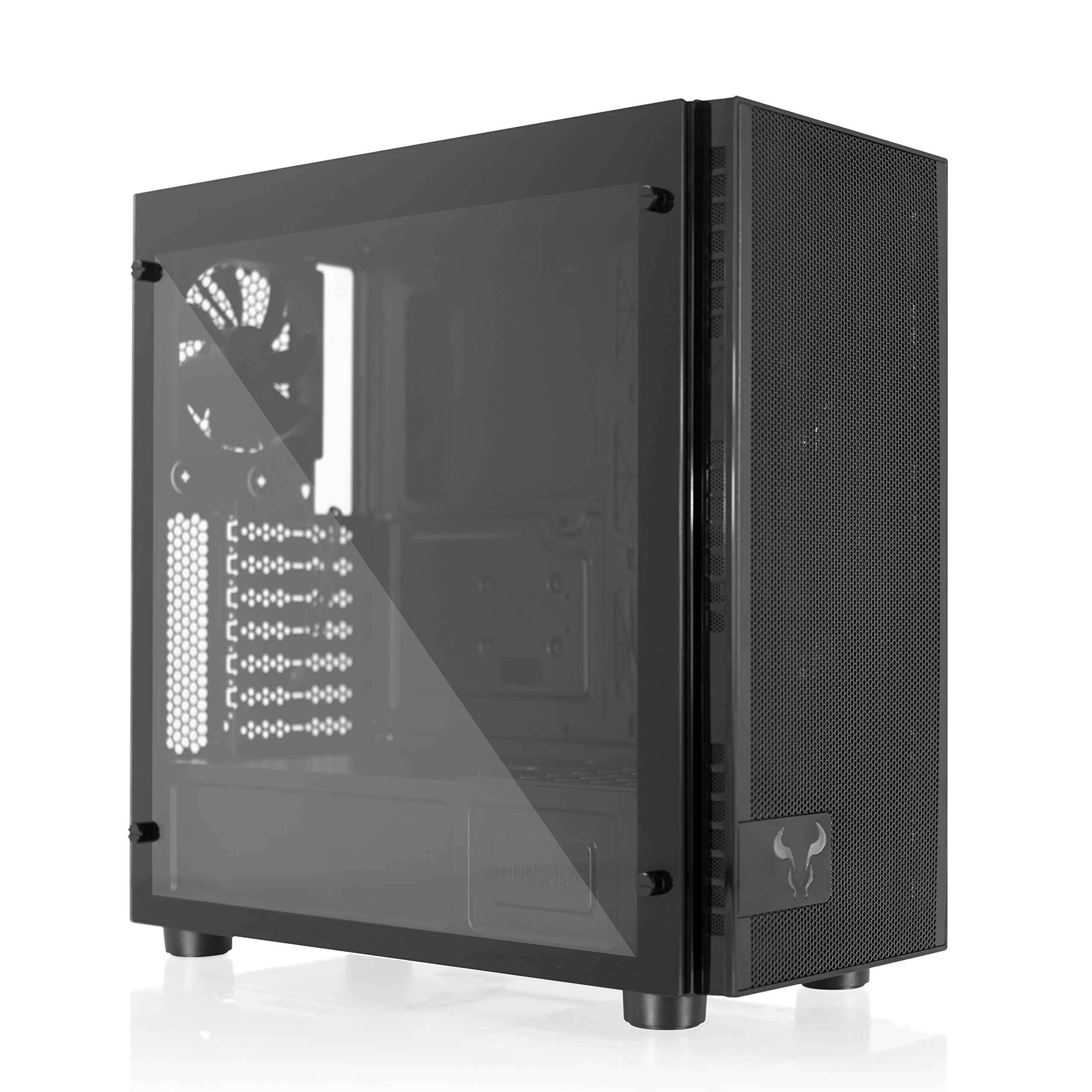 RIOTORO Full Tower, Fully Customizable RGB Color Gaming Case (CR500 - Tempered Glass ATX Mid Tower) by RIOTORO