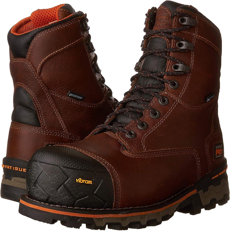 """Timberland PRO Men's Boondock 8"""" Composite Toe Puncture Resistant Waterproof Industrial Boot"""