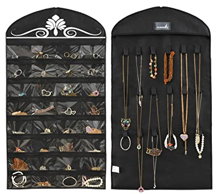 Hanging Organizer 40 Pockets Hanger Bags Wardrobe Closet Double Side Jewelry Non-woven And To Have A Long Life. Foldable Storage Bags