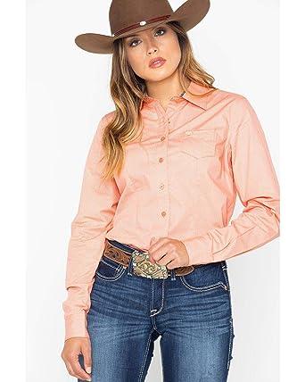 d373318f Cinch Women's Core Geo Print Long Sleeve Western Shirt - Msw9164084 at Amazon  Women's Clothing store:
