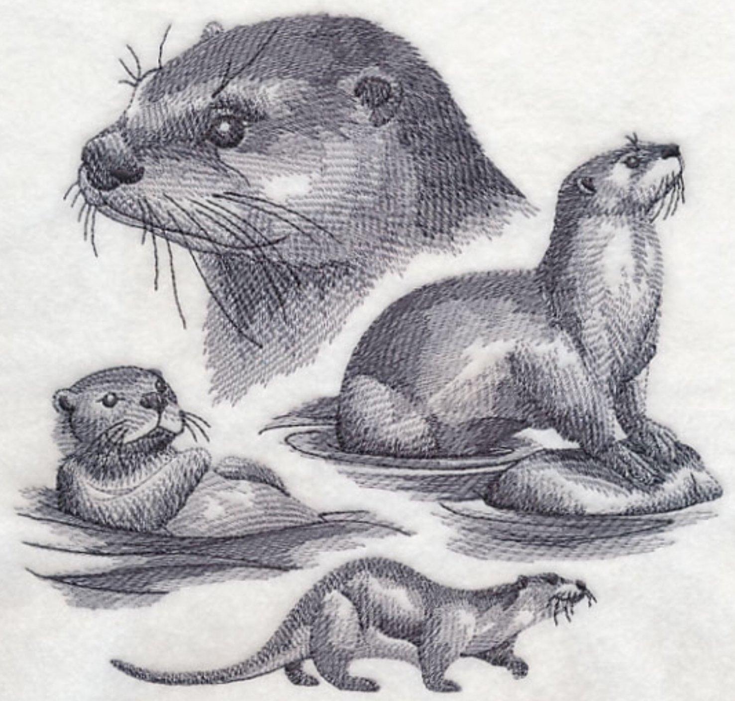 Sea Otter Custom Embroidered Sweatshirt Shirt