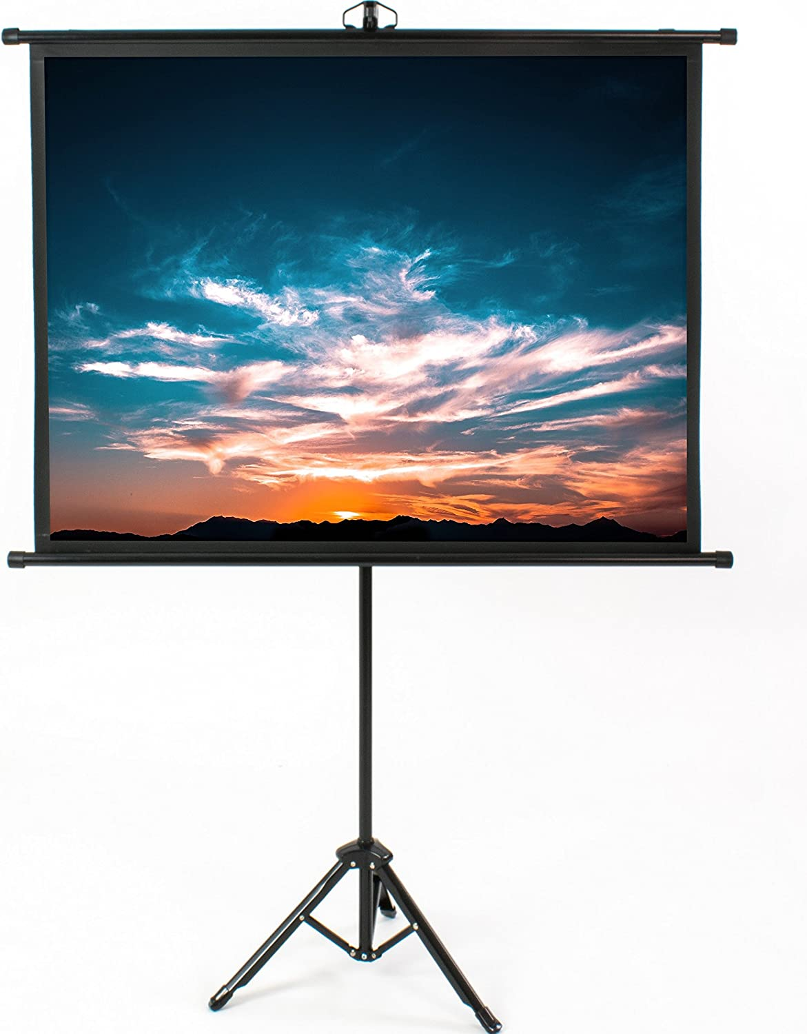 Vivo 50 Inch Mini Portable Indoor Outdoor Projector Screen 50 Inch Diagonal Projection Hd 4 3 Projection Pull Up Foldable Stand Tripod Ps T 050b Electronics