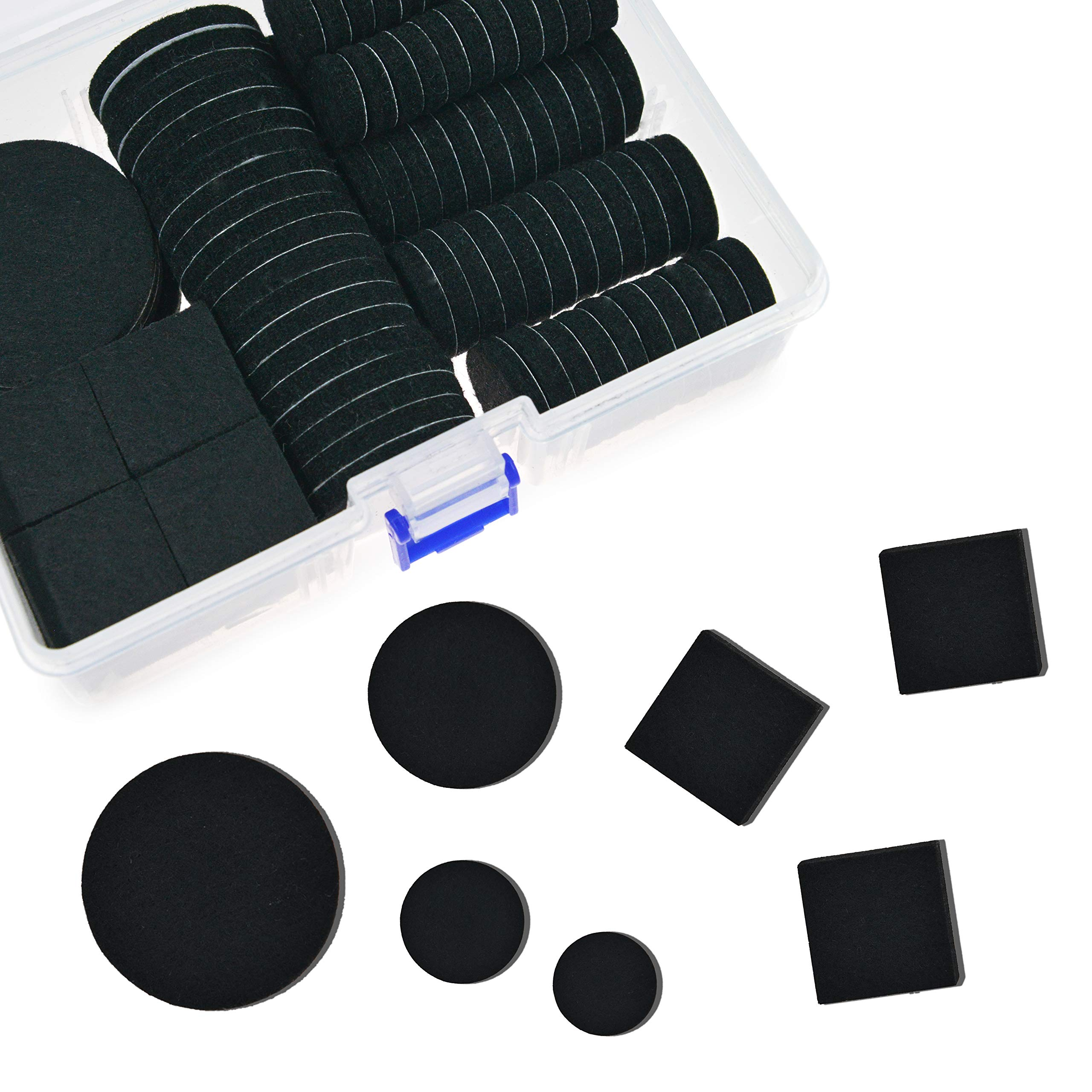 TTMOW Various Sizes Furniture Pads 142pcs Self Adhesive Tape,Best Floor Protectors for Anti Scratch - Suitable for All The Furniture