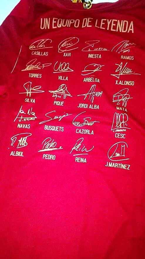 Camiseta Mundial Sel. Española Original RFEF (M) UN EQUIPO DE LEYENDA: Amazon.es: Deportes y aire libre