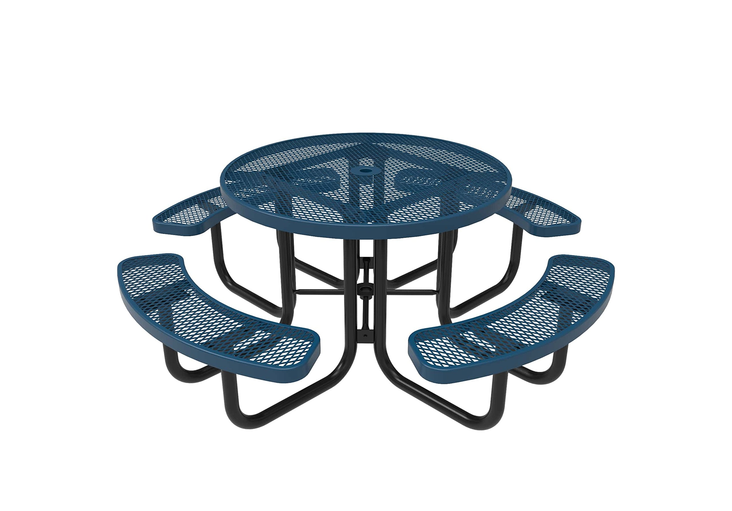 Coated Outdoor Furniture TRD-LBL Top Round Portable Picnic Table, 46-Inch, Light Blue by CoatedOutdoorFurniture