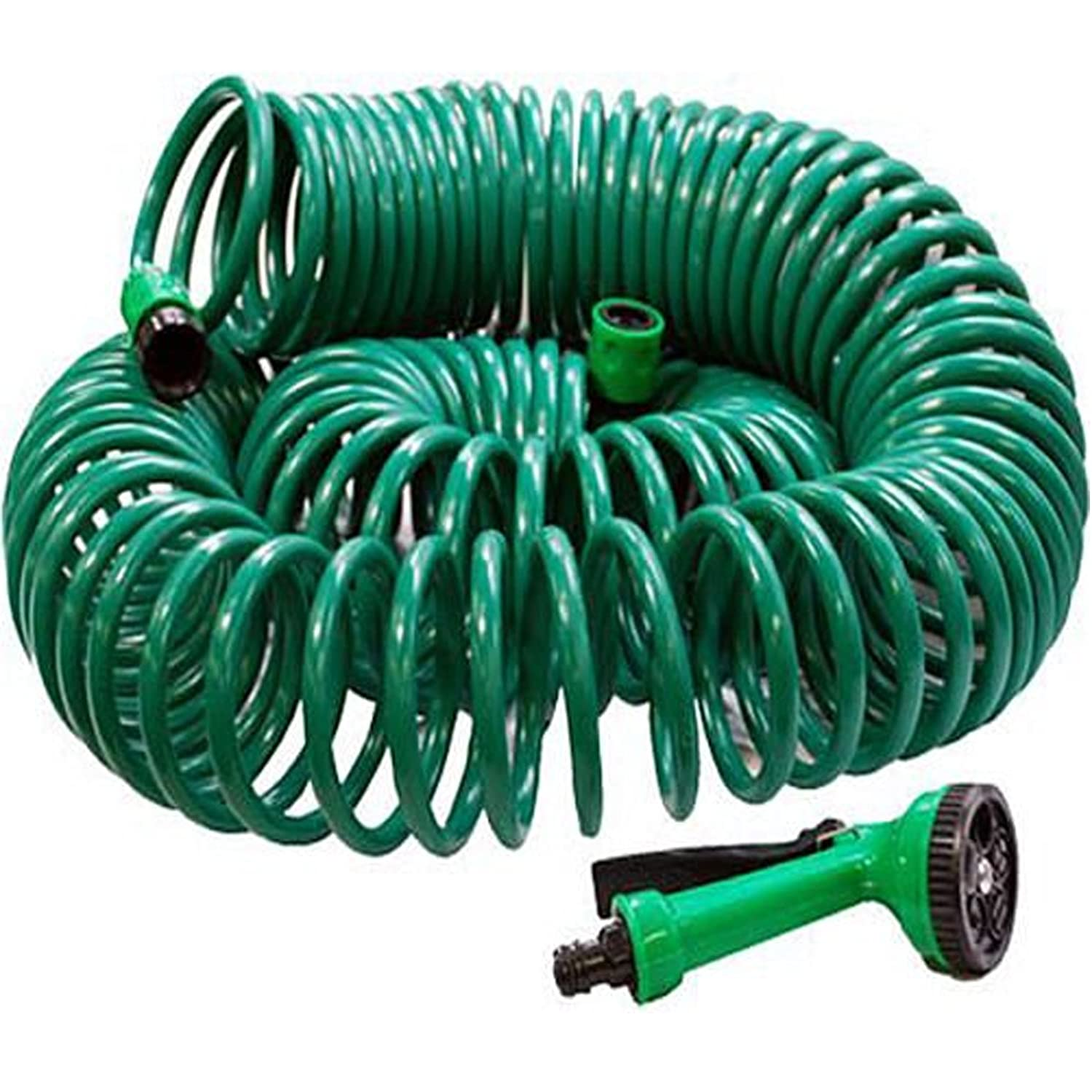 50FT COIL 50 FT 15M GARDEN HOSE PIPE SPRAY GUN NEW Amazoncouk