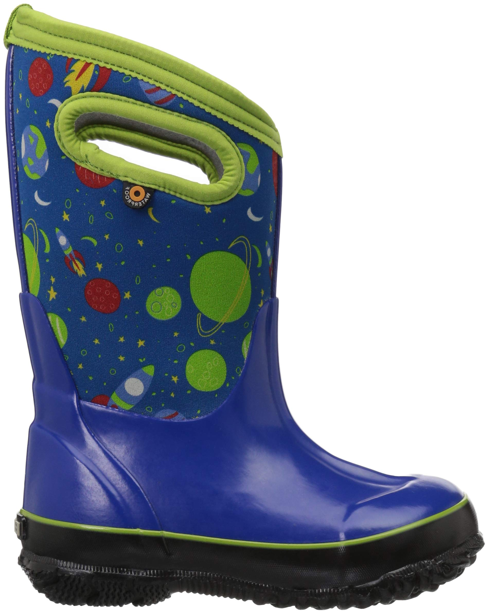 Bogs Classic High Waterproof Insulated Rubber Neoprene Rain Boot Snow, Space Blue/Multi, 11 M US Little Kid by Bogs (Image #5)