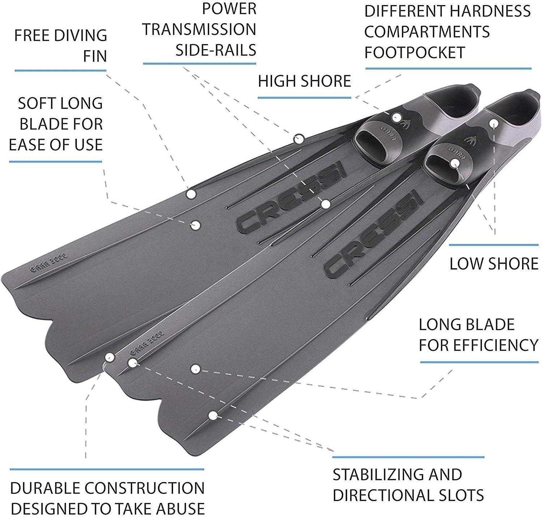 Cressi Mens Gara 3000 Ld Long-distance Long Blade Diving Fins