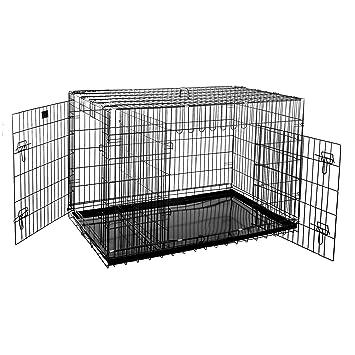Amazon.com: Jaula de alambre plegable resistente para perros ...