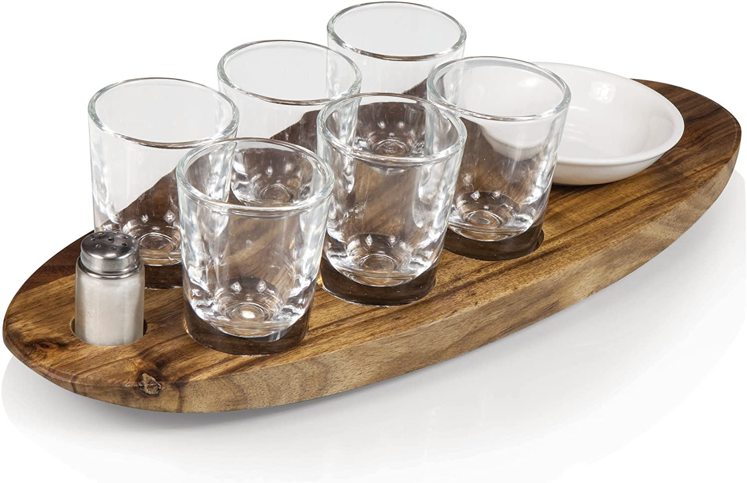 Legacy-A Picnic Time Brand Cantinero 6-Shot Glass Serving Set