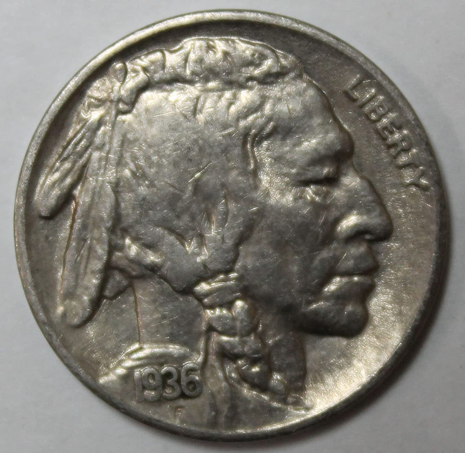 """1937 P INDIAN HEAD /""""BUFFALO/"""" NICKEL  *AU ABOUT UNCIRCULATED*   *FREE SHIPPING*"""