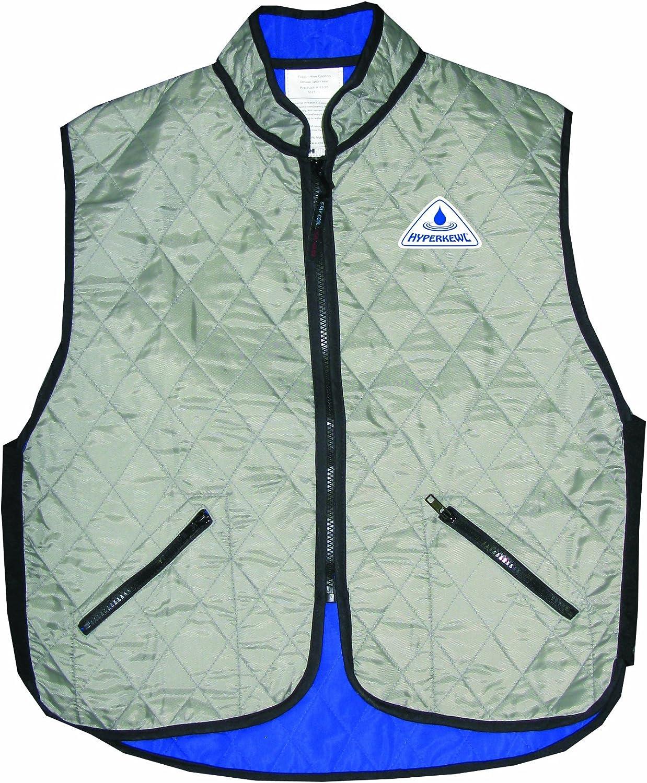 HyperKewl Evaporative Cooling Deluxe Sport Vest,Black,Large