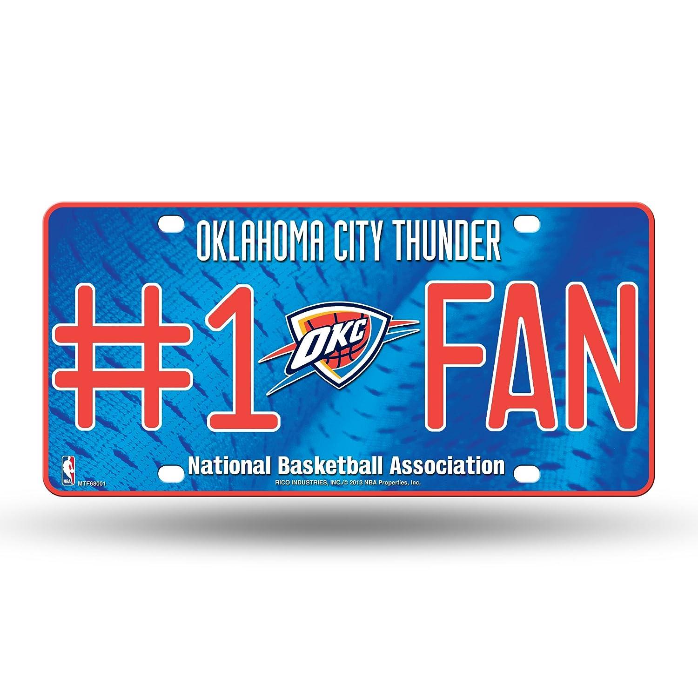NBA Oklahoma City Thunder #1 Fan Metal License Plate Tag