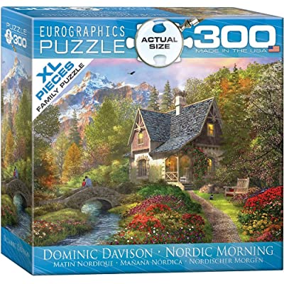 EuroGraphics Nordic Morning by Dominic Davison 300-Piece Puzzle (Small Box): Toys & Games