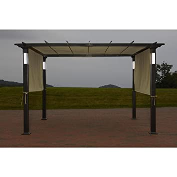 Amazoncom Garden Oasis 8ft x 10ft LED Lighted Pergola Patio