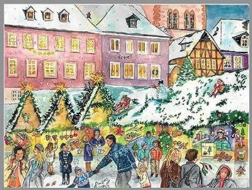 Calendrier De Lavent Allemand.Personnes A Un Marche De Noel Allemand Calendrier De L Avent