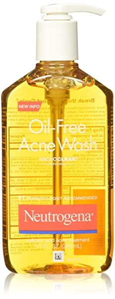 Neutrogena Oil-Free Acne Face Wash With Salicylic Acid, 9.1 Oz. (Pack of 3)