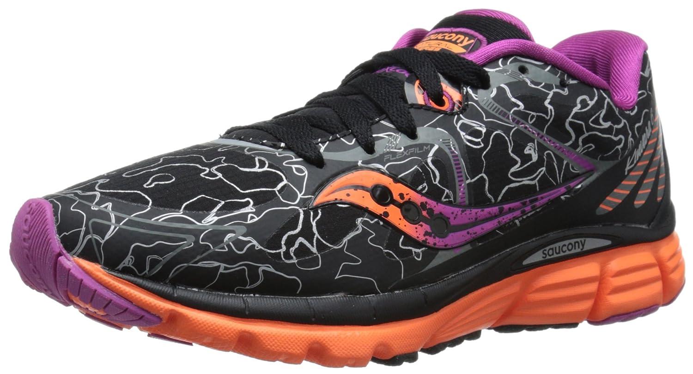 Saucony Women's Kinvara 6 Runshield Footwear, Black/Orange/Purple, 37.5 EU