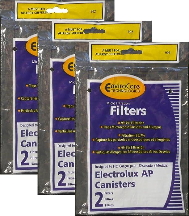 Electrolux, Aerus AP100 Canister Vacuum Hepa Micro electrostatic Filter LE 2100, Diplomat, Ambassador, Epic 6500, Full Kit, 200 350 622 10, 079 (6 Filters)