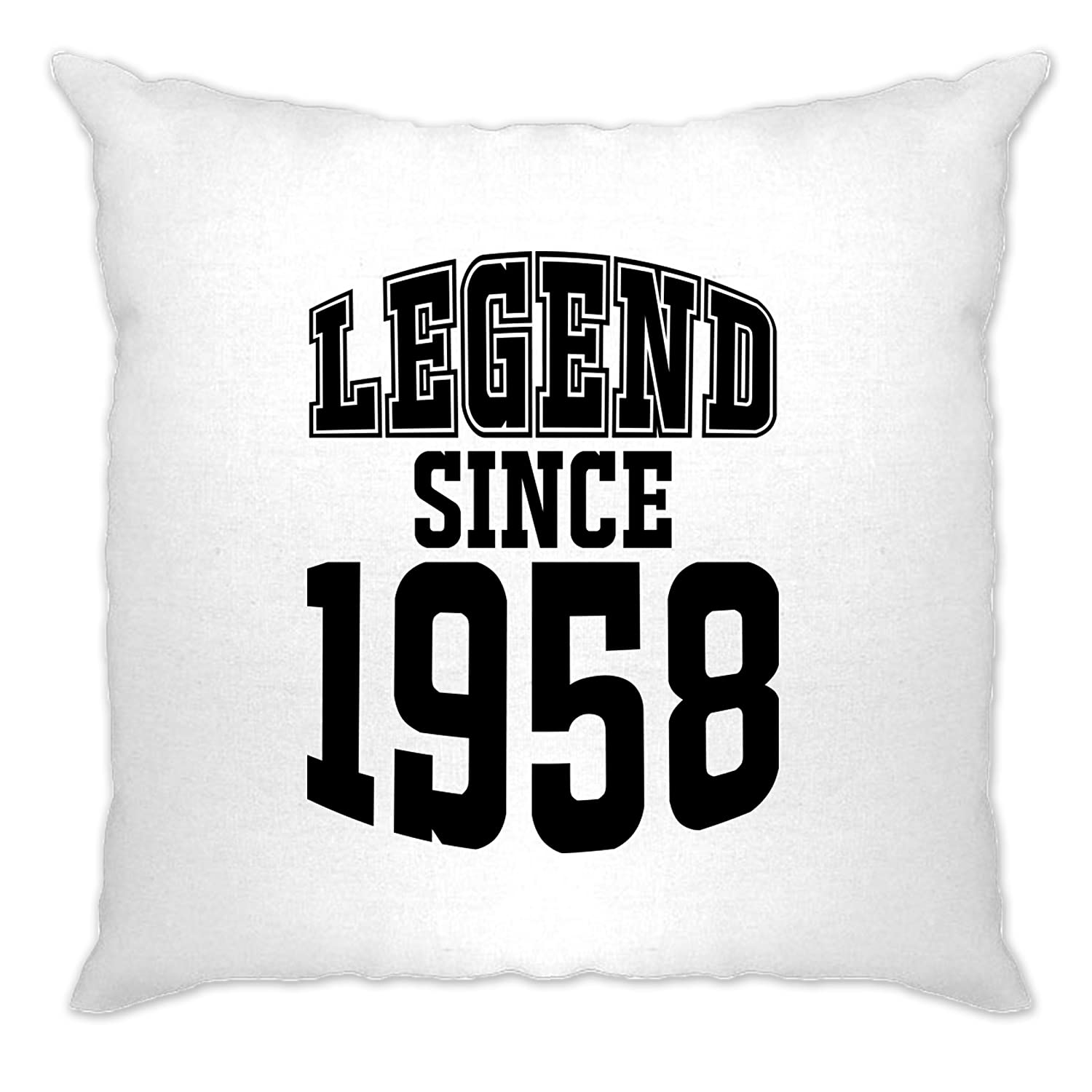 60th Birthday Cushion Cover Case Legend Since 1958 Tim And Ted A-CC-01597-NAT