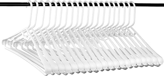 USA Made Strong and Long Lasting Hangers Set of 20 Neaties Best Wide Shoulder Heavy Duty Plastic Hangers
