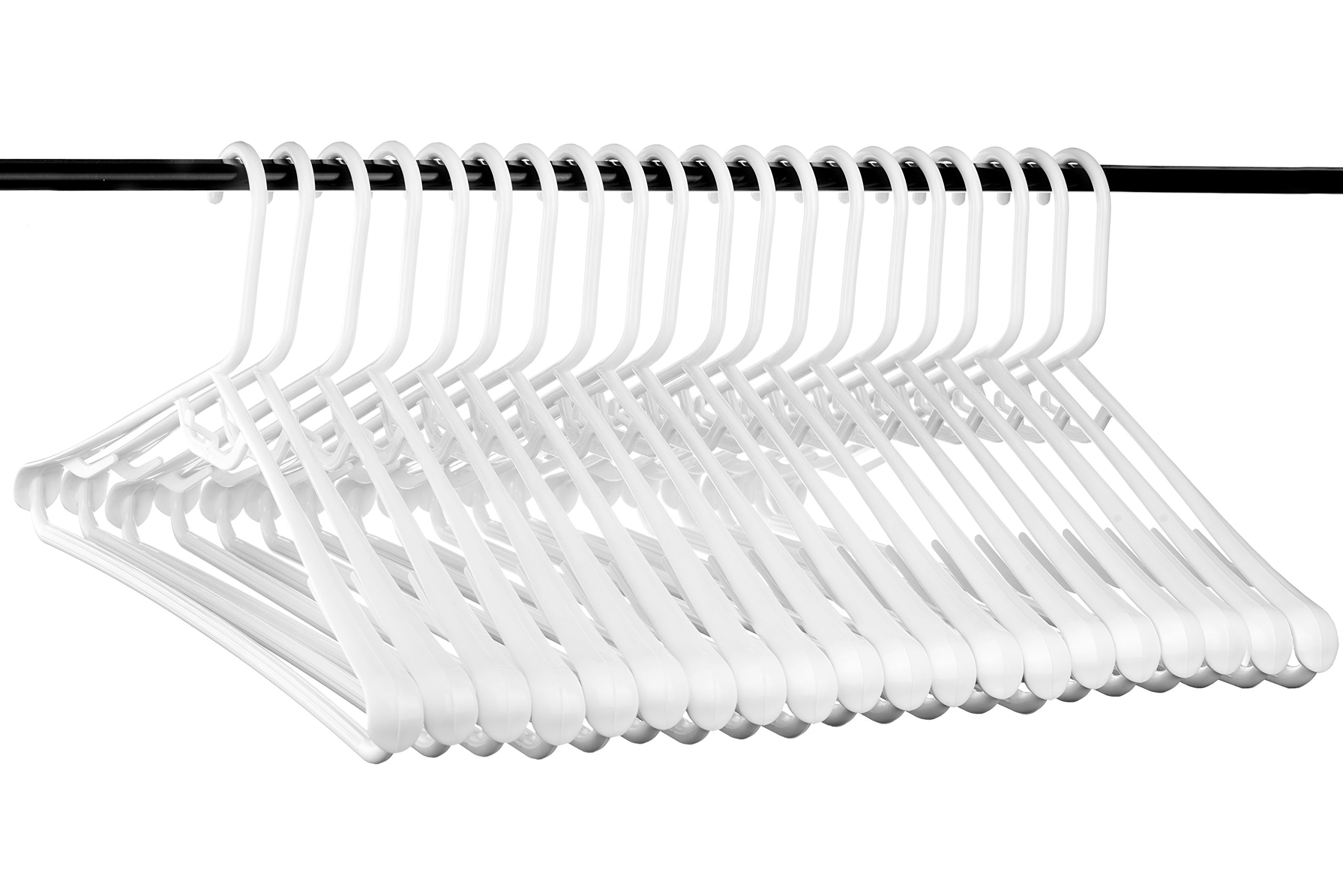 Best Wide Shoulder Heavy Duty Plastic Hangers, USA Made Strong and Long Lasting Hangers, Set of 20 by Neaties