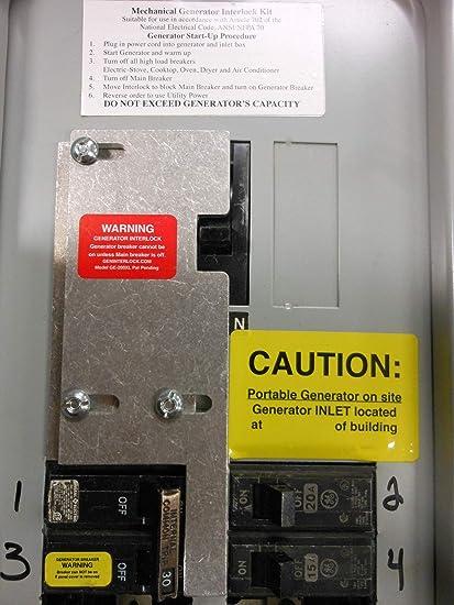 GE-200VL GE General Electric Generator Interlock Kit for