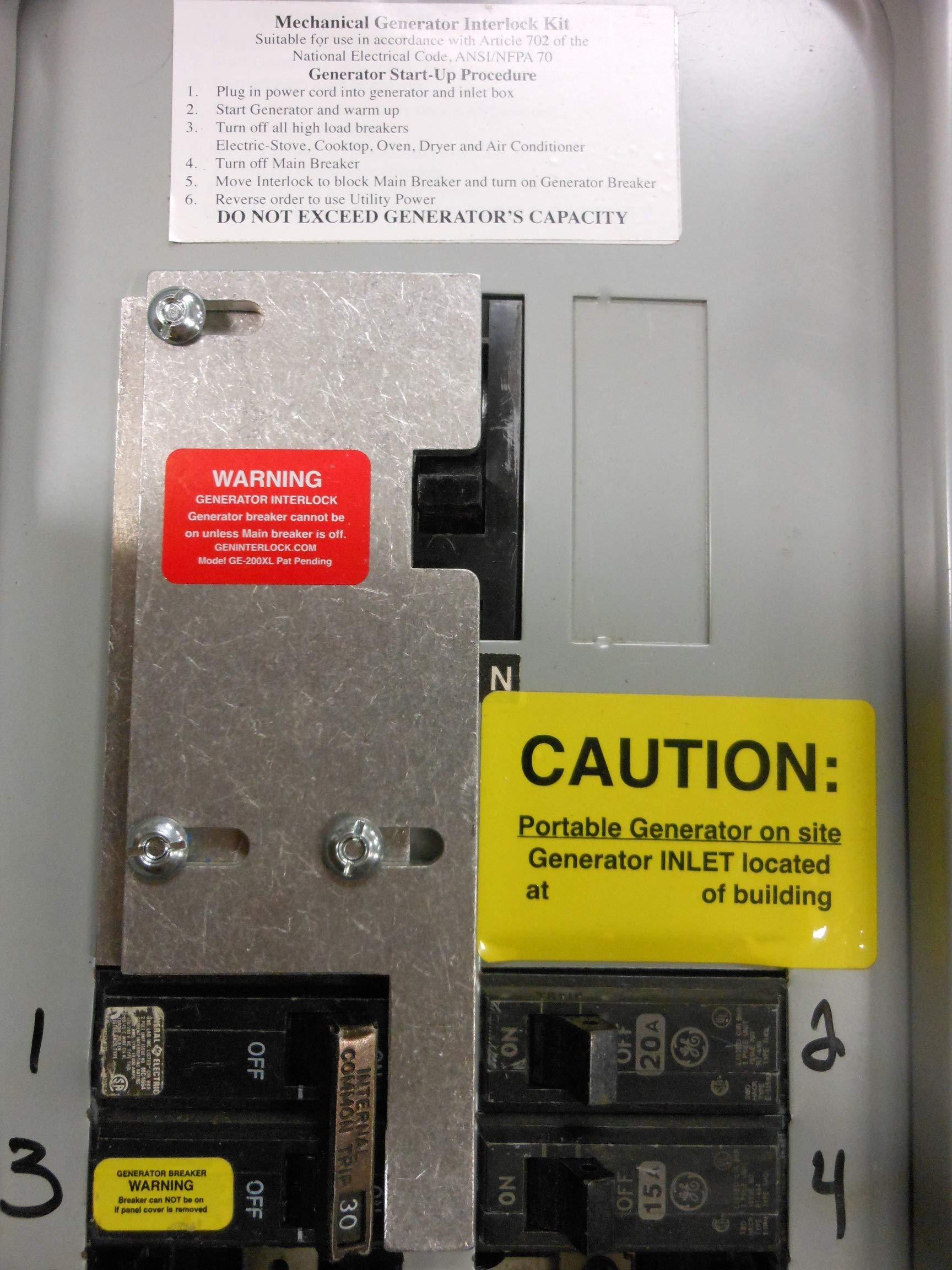 GE-200VL GE General Electric Generator Interlock Kit for Vertical Main 150 or 200 amp breaker by Geninterlock.com (Image #3)