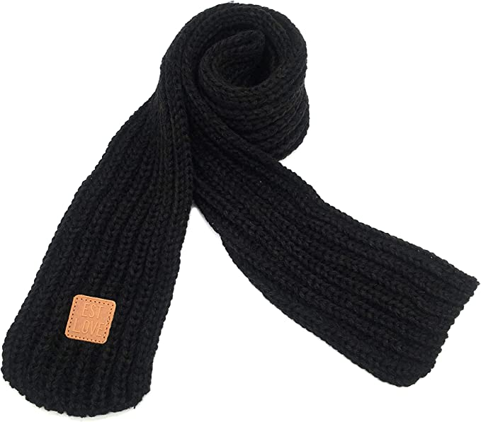 Onefa Fashion Kids Scarves Winter Warm Children Thick Scarf Knitted Collar Neck Scarves Boys Girls Neckerchiefs Lovely