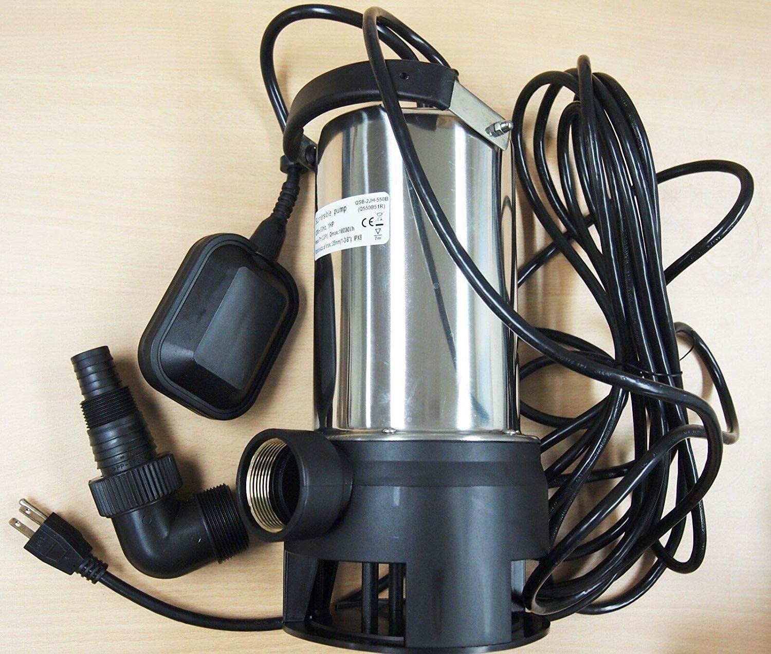 FXDJH Submersible Water Pump Submersible Water Pump Stainless Steel 1HP 10000 L//H Trash Clean Water Flooding Submersible Pump