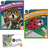 MindWare Color by Number Mystery Mosaics Set: Books 3-4 with Pencils