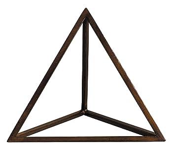 Tétraèdre, Solide de Platon en bois, représentant le Feu: Amazon.fr ...