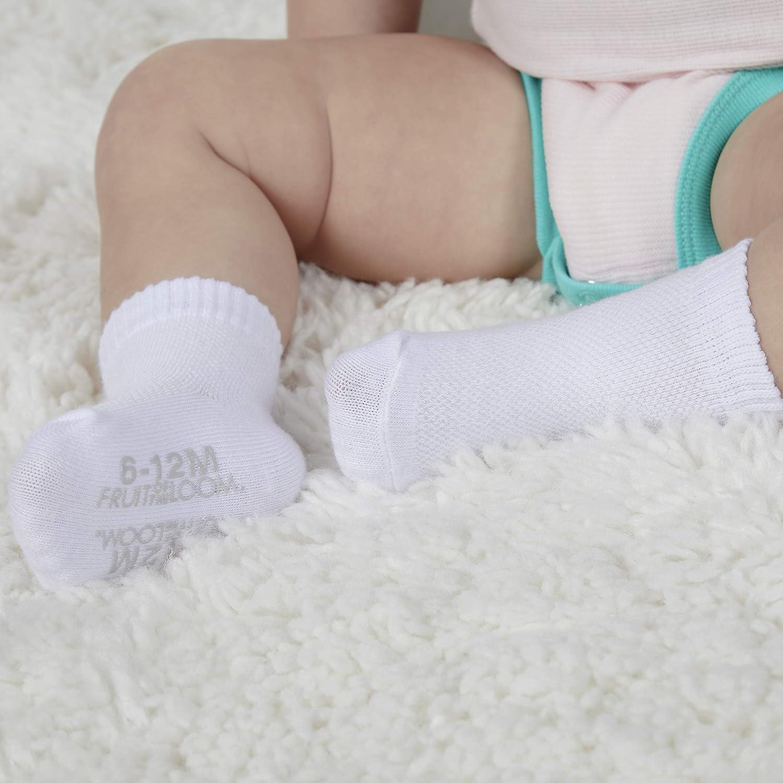 Boys Fruit of the Loom Baby 6-Pack Breathable Cooling Mesh Crew-Length Socks Unisex Girls