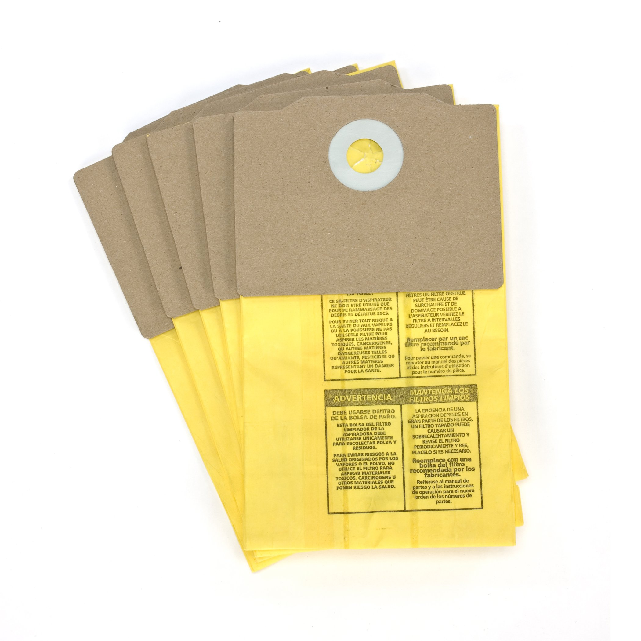 Shop-Vac 9191710 Genuine Back Pack Vacuum Collection Filter Bag, 5-Pack by Shop-Vac