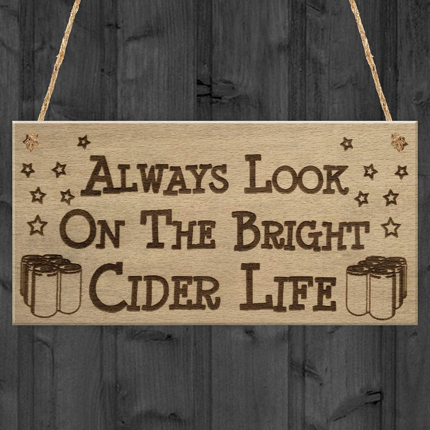 RED OCEAN Bright Cider Life Funny Alcohol Man Cave Pub Gift Hanging Plaque Home Brew Bar Sign