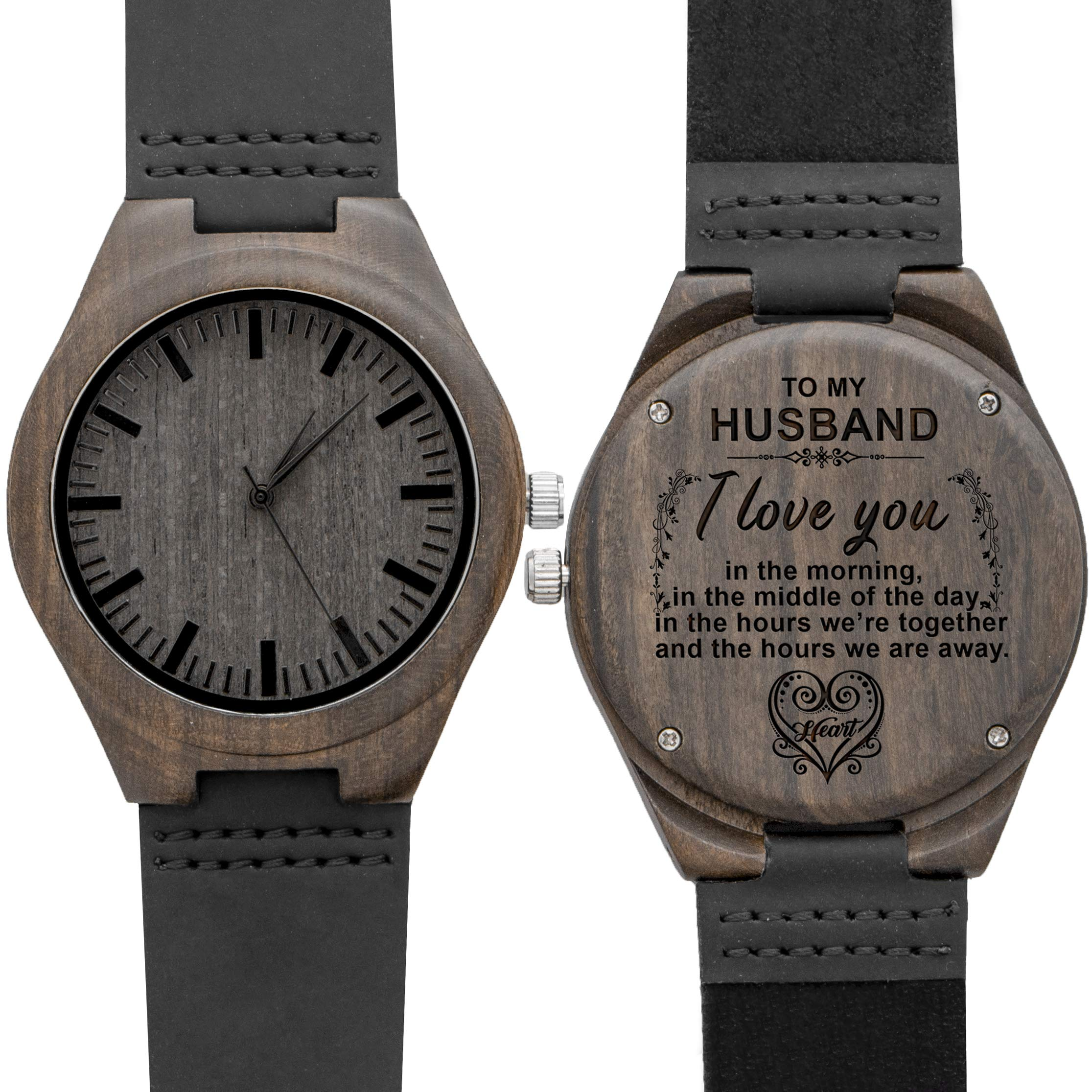 Engraved Wood Watches for Men,Wooden Watch Personalized ...
