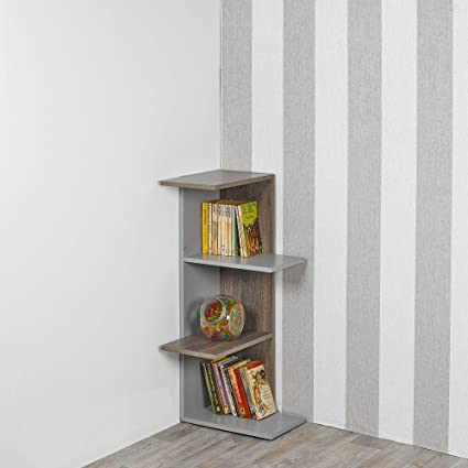 2 color gris 2 niveles UrBNLIVING Estanter/ía de madera para almacenamiento de 1 4 niveles 3