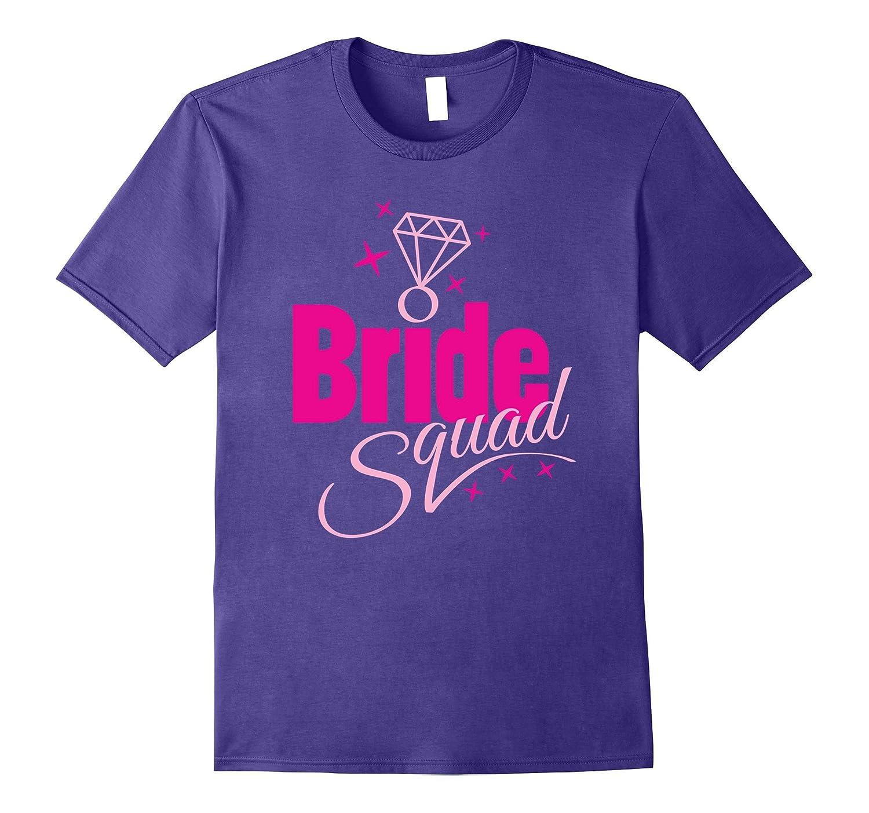 Bride Squad Bachelorette Party T-Shirt Womens Diamond Stag-CL