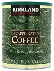 Kirkland Signature Dark Rost Fine Grind Decaf Arabica Coffee