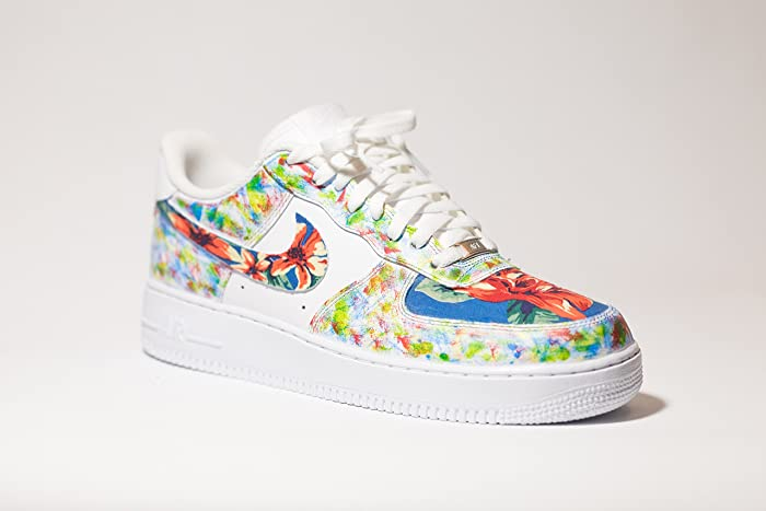 8c168708de2c7 Amazon.com: Nike Air Force 1 AF1 Custom Hawaii sponged Camo Edition:  Handmade