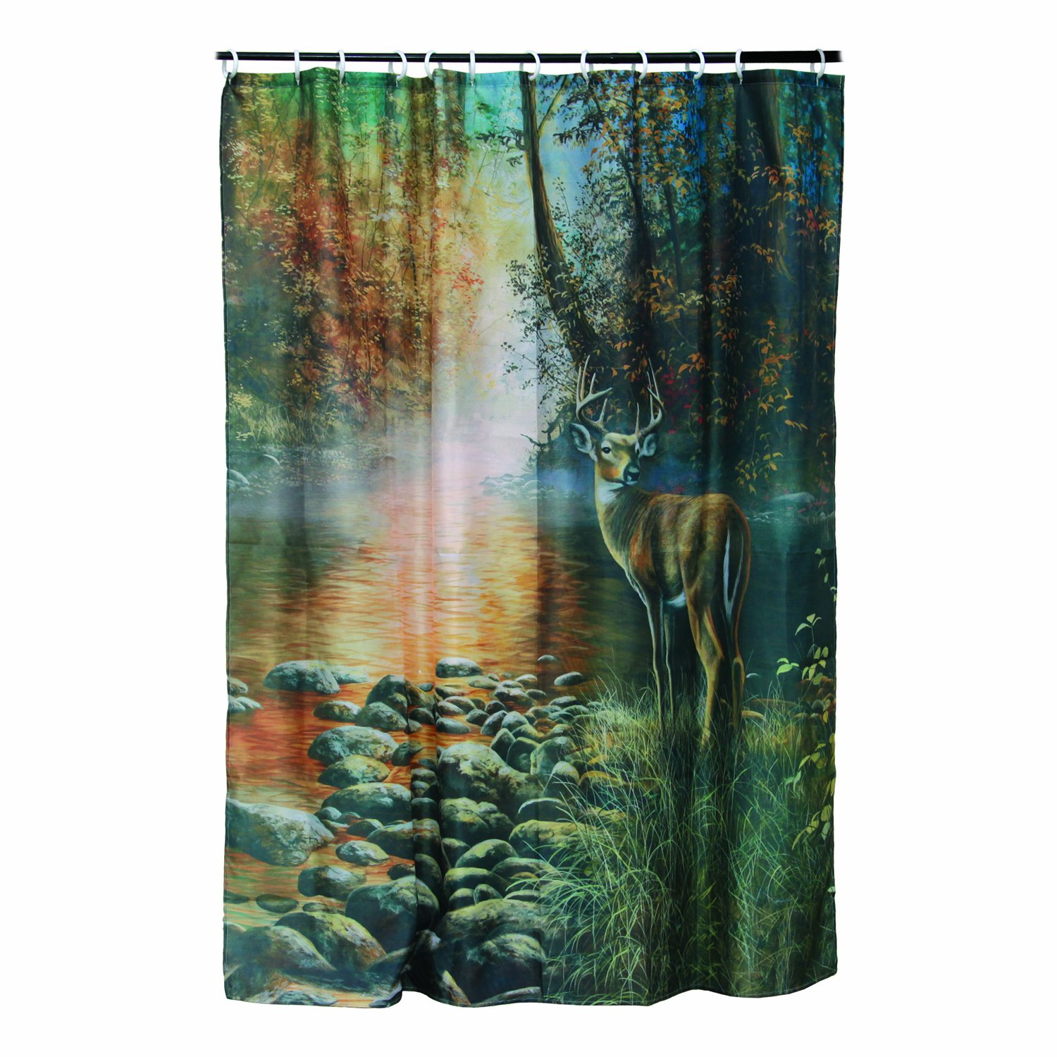 Amazon.com: Rivers Edge Products Deer Shower Curtain: Sports ...