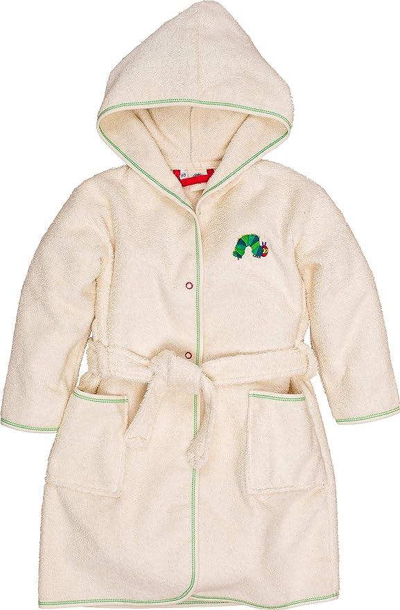 Smithy® – Albornoz Infantil para niñas y niños Oruga, 100% algodón ...
