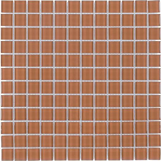 Amazon Com Mto0362 Modern Stacked Squares Burnt Orange Glossy