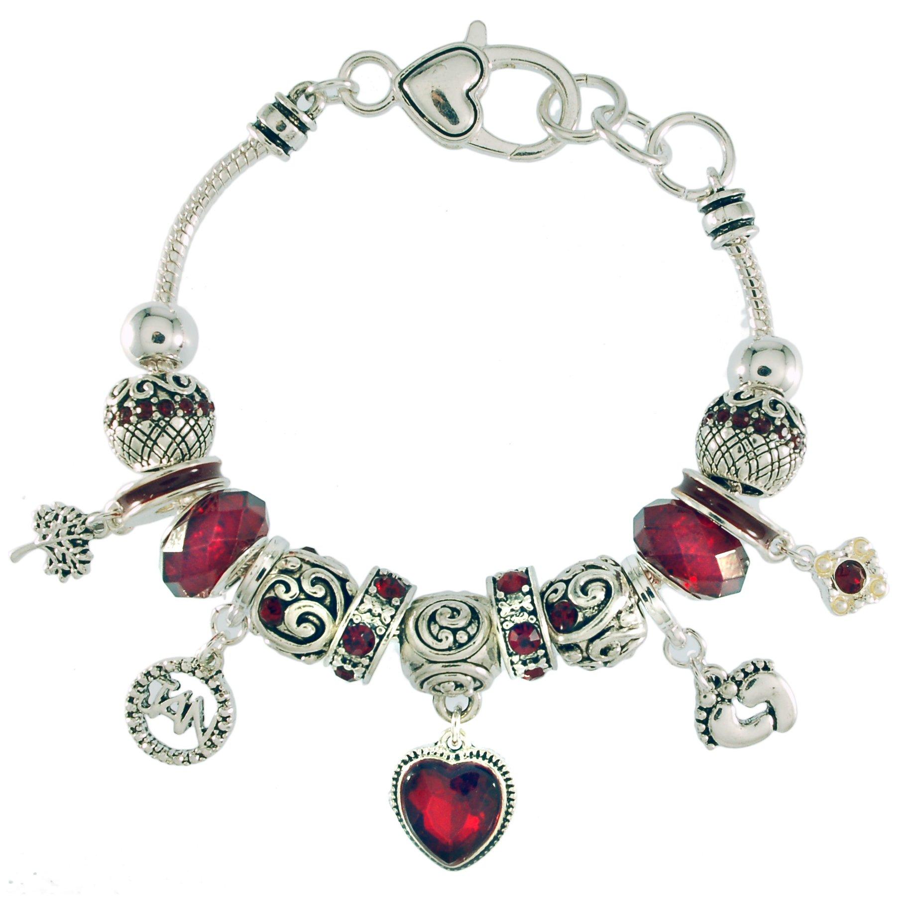 Landau Ambrosia January Birthstone Charm Bracelet