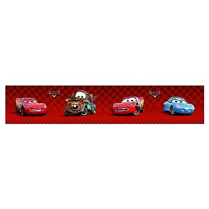 Disney Pixar Cars Wallpaper Border 4 Red Self Adhesive Amazon Com